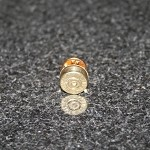 45 Auto Spent Brass Bullet Hat Pin/Tie Tack